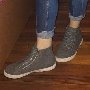 Grey Zipper Shoes